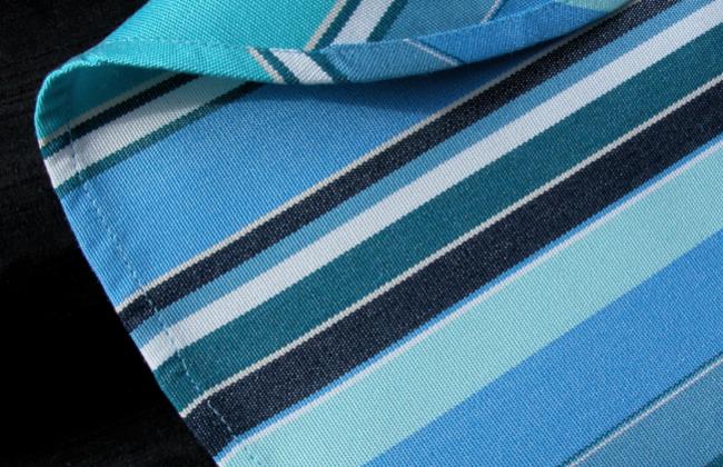 Sunbrella stripe tablecloth