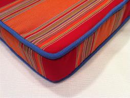 Sunbrella outdoor canvas stripe cushion