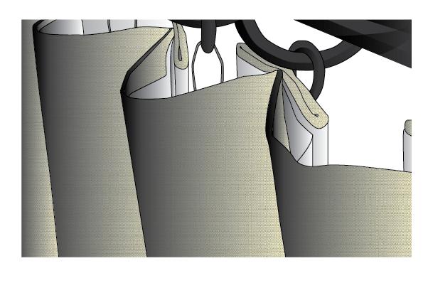 Sunbrella Linen Inverted Box Pleat Drape
