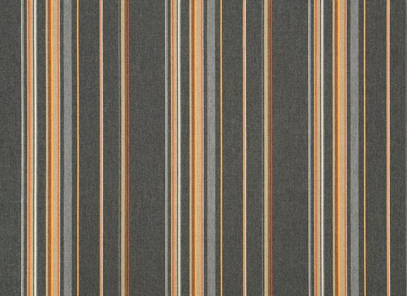 Sunbrella Canvas Stanton Greystone Stripe 58002-0000 outdoor curtain fabric