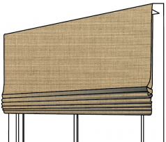 Sunbrella Canvas Roman Shade – Flat Style
