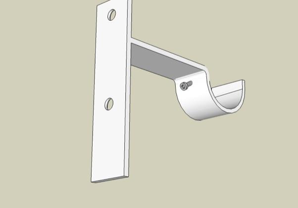 Custom drapery strap bracket
