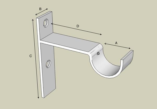 Strap bracket front labels