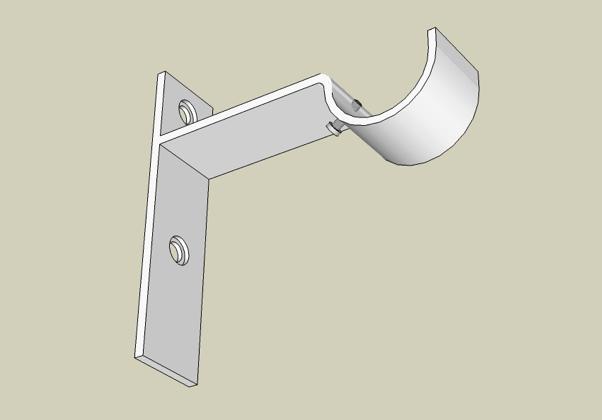 Custom Strap bracket – view from below