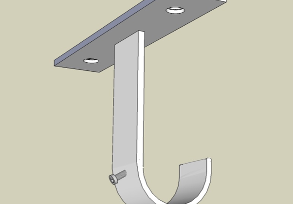 Ceiling bracket inline back