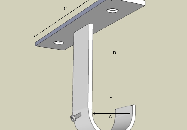 Ceiling bracket inline labels