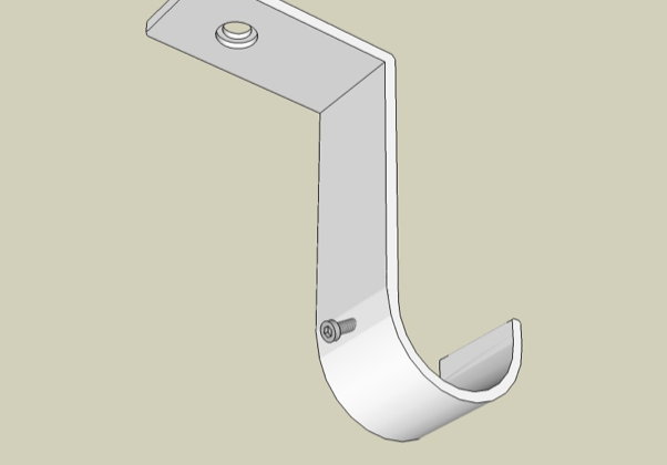 Ceiling bracket offset under view