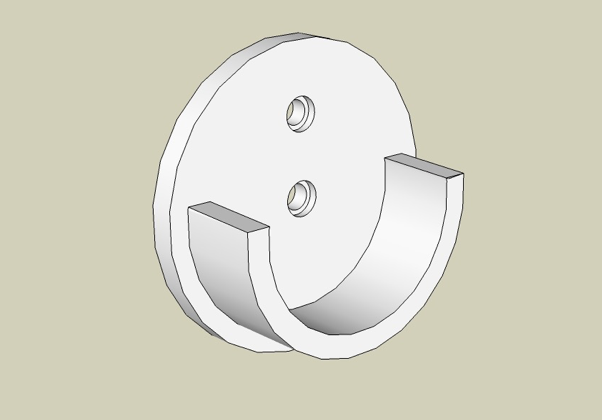 Bracket – inside Mount – Shown front 3/4 view.
