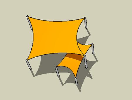 Shade sail trapezoid