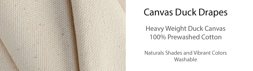 Canvas Duck Drapes