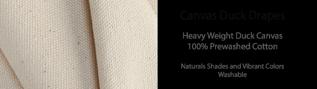 Canvas Duck Drapes