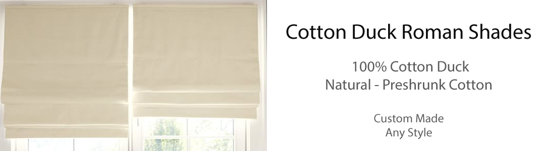 Cotton Duck Canvas Roman Shades