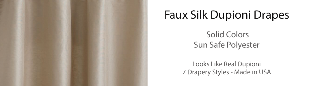 Faux Silk Dupioni Drapes