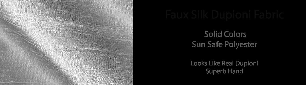 Faux Silk Dupioni