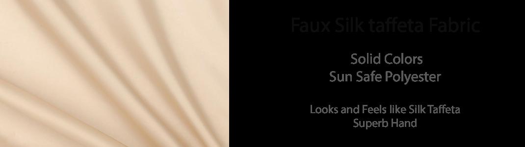 Faux Silk Taffeta