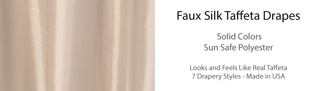 Faux Silk Taffeta Drapes