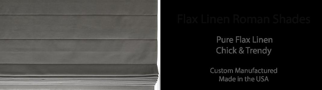 Flax Linen Roman Shades