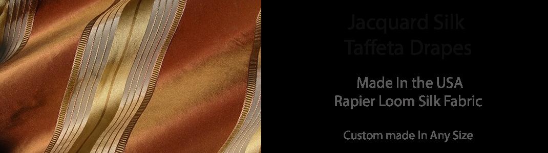 Silk Taffeta Jacquard Drapes