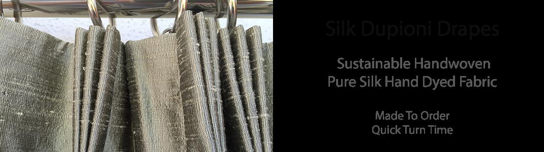Silk Dupioni Drapes & Curtains