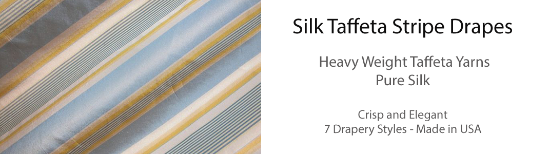 Silk Taffeta Stripe Drapes