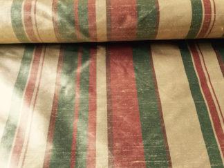 Silk Dupioni STRIPE – CARAMEL/GOLD/TERRACOTTA San Luis 6794A Stripe