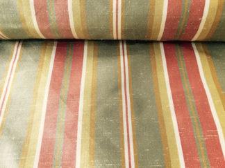 Silk Taffeta/Dupioni STRIPE – BOA/CREAM/BRICK/CARAMEL Kirkwall 299-525S Stripe