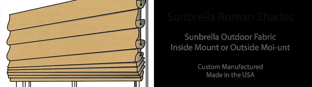Sunbrella Roman Shades