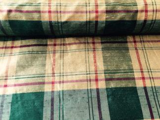Silk Dupioni PLAID – GREEN/GOLD/RED Xmas Plaid