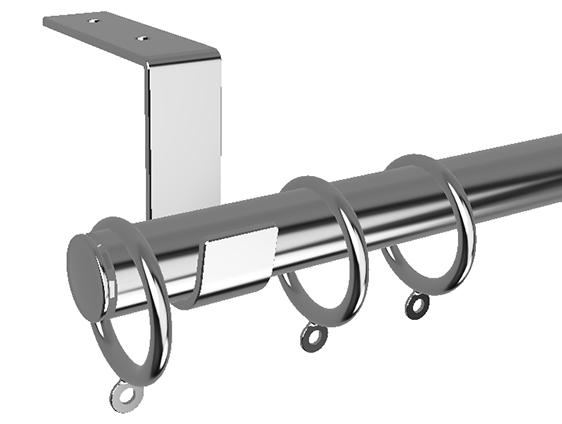 Stainless Steel Drapery Rod Ceiling Mount Plumridge