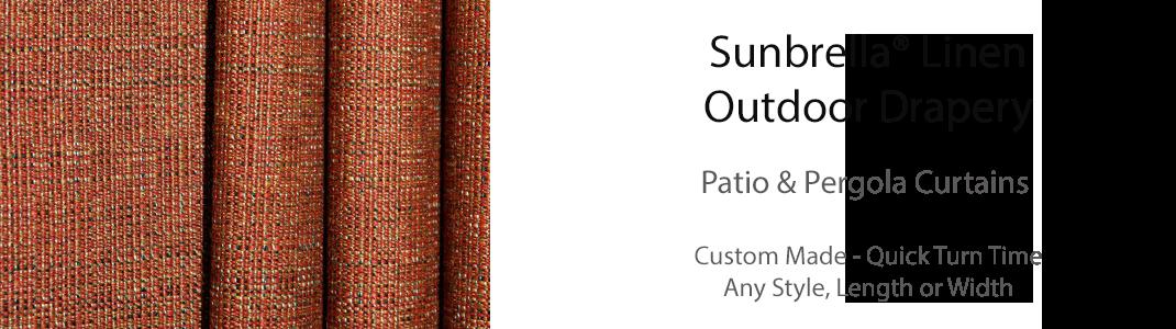 Sunbrella Linen Drapes
