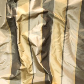 Silk Taffeta STRIPES - TAUPE GOLD